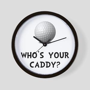 Whos Golf Caddy Wall Clock