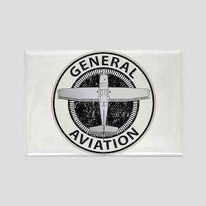 General Aviation Rectangle Magnet
