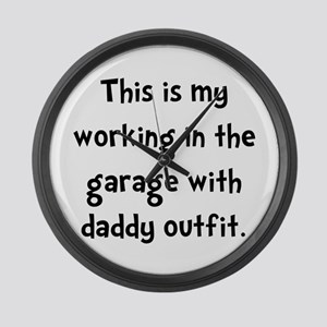 Working Daddy Garage Large Wall Clock