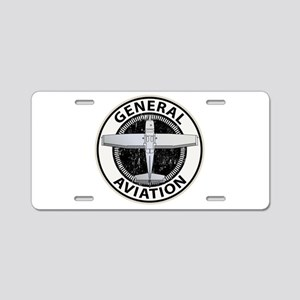 General Aviation Aluminum License Plate