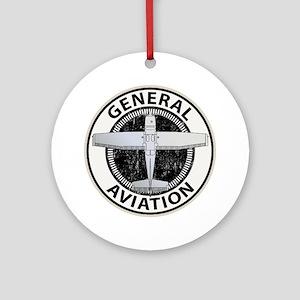 General Aviation Ornament (Round)