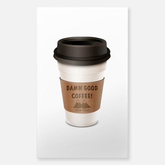 Twin Peaks Damn Good Coffee Logo Decal