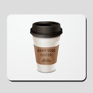 Twin Peaks Damn Good Coffee Logo Mousepad