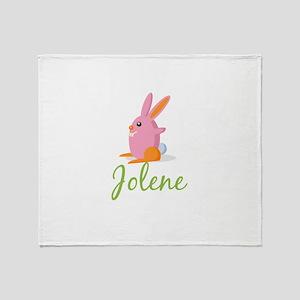 Easter Bunny Jolene Throw Blanket