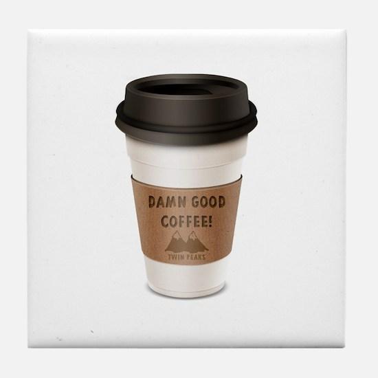 Twin Peaks Damn Good Coffee Logo Tile Coaster