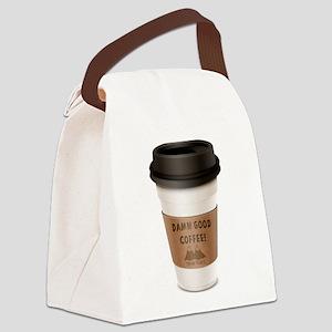 Twin Peaks Damn Good Coffee Logo Canvas Lunch Bag