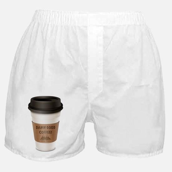Twin Peaks Damn Good Coffee Logo Boxer Shorts