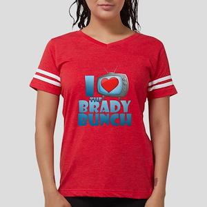 I Heart The Brady Bunch Womens Football Shirt