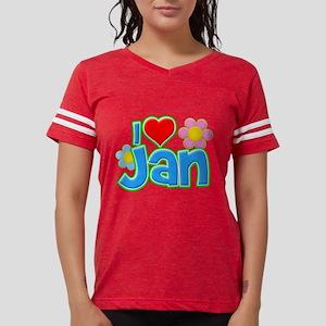 I Heart Jan Womens Football Shirt