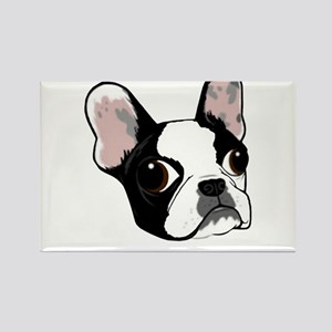 Boston terrier head Rectangle Magnet