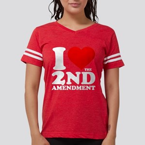 I Heart the 2nd Amendment Womens Football Shirt