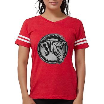 Distressed Wild Zebra Stamp Womens Football Shirt