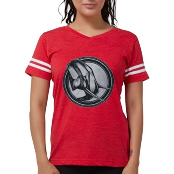 Distressed Wild Elephant Stam Womens Football Shir