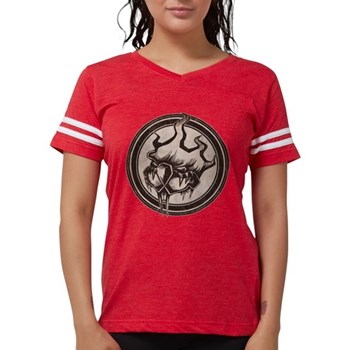Distressed Wild Beaver Stamp Womens Football Shirt