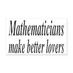 Mathematicians Make Better Lovers Rectangle Car Ma