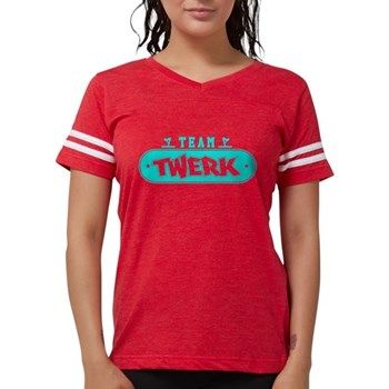 Neon Turquoise Team Twerk Womens Football Shirt