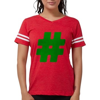 Green #Hashtag Womens Football Shirt