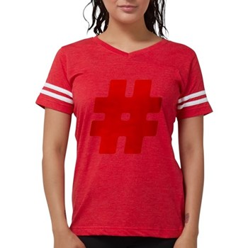 Red #Hashtag Womens Football Shirt