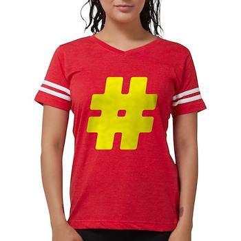 Yellow #Hashtag Womens Football Shirt