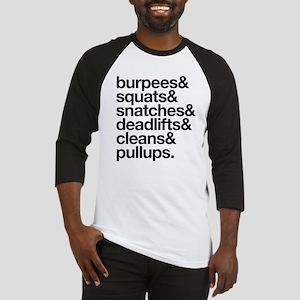 Crossfit Essentials Black Text Baseball Jersey