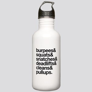 Crossfit Essentials Black Text Water Bottle