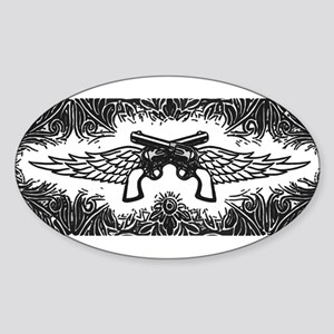 Pistols and Wings Sticker