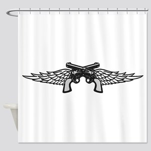 Pistols and Wings Shower Curtain
