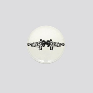 Pistols and Wings Mini Button