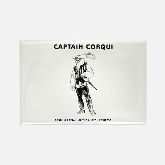 Captain Corqui Illustrations Rectangle Magnet