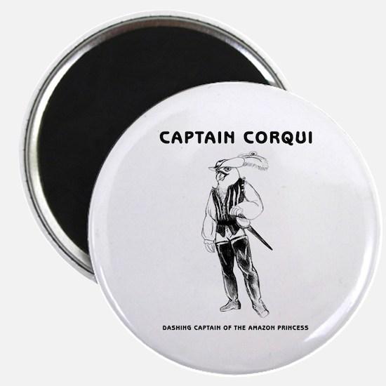Captain Corqui Illustrations Magnet