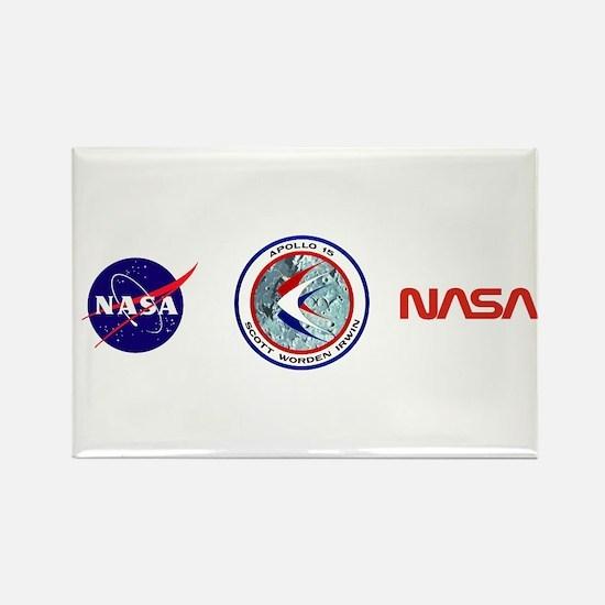 Apollo 15 Rectangle Magnet
