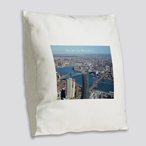 Bridges Burlap Throw Pillow