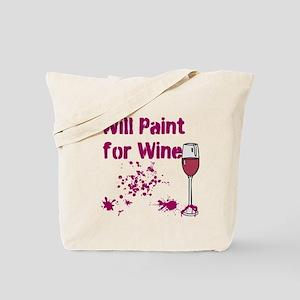 Wine Painting Tote Bag