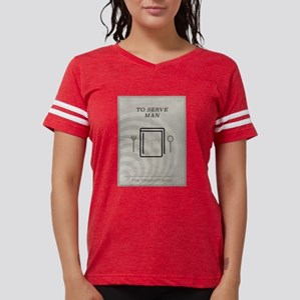 To Serve Man Minimal Poster Womens Football Shirt