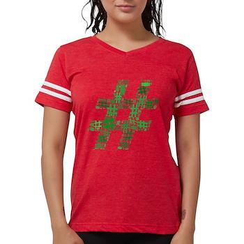 Green Hashtag Cloud Womens Football Shirt