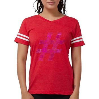 Orange Hashtag Cloud Womens Football Shirt