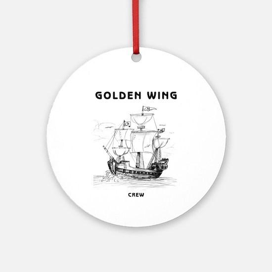 Golden Wing Crew Ornament (Round)
