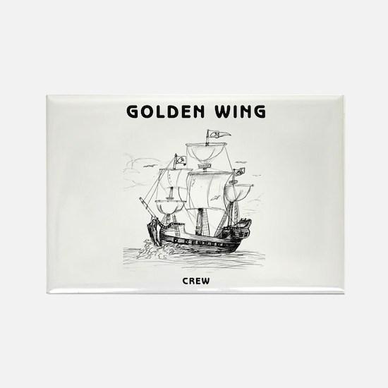 Golden Wing Crew Rectangle Magnet