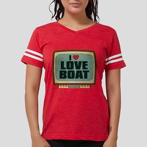 Retro I Heart Love Boat Womens Football Shirt
