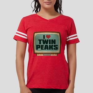 Retro I Heart Twin Peaks Womens Football Shirt