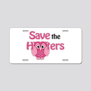 Save the Hooters Aluminum License Plate