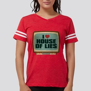 Retro I Heart House of Lies Womens Football Shirt