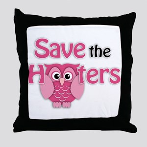 Save the Hooters Throw Pillow