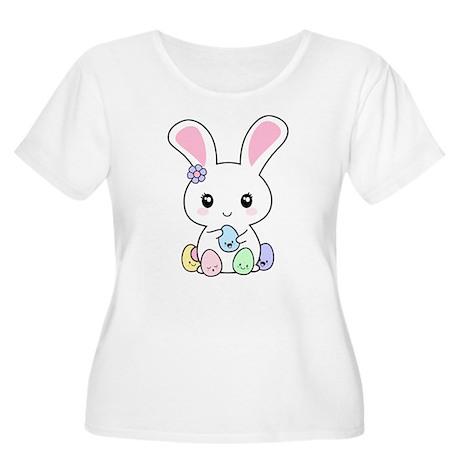 Kawaii Easter Bunny Women's Plus Size Scoop Neck T