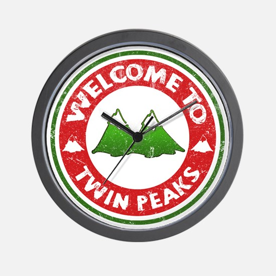 Welcome To Twin Peaks Wall Clock