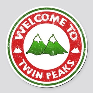 Welcome To Twin Peaks Round Car Magnet