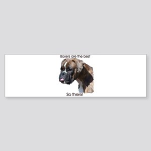 Boxers are the Best Brindle u Bumper Sticker