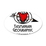 Tasmanian Geographic Arrow Shot Oval Car Magnet