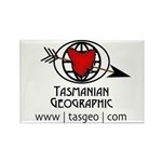 Tasmanian Geographic Arrow Shot Rectangle Magnet