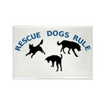 Rescue Dogs Rule Rectangle Magnet (10 pack)
